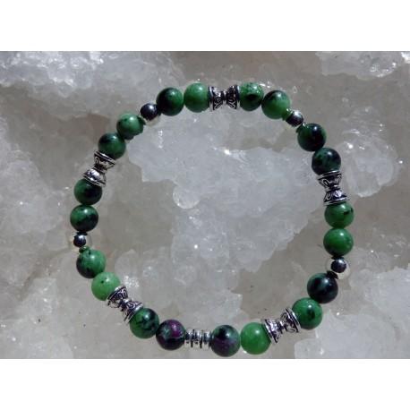 Bracelet Rubis en Zoïzite  - 01
