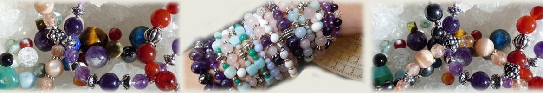 Perl'amies, bracelets en pierres naturelles, perles de roches et cristaux